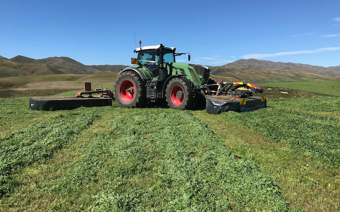 Bleeker ag services with Mower at Otaio