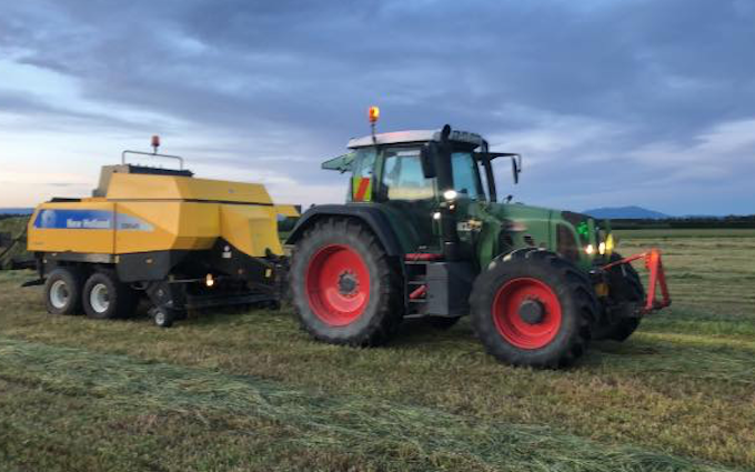 Haybaleman.co.nz with Large square baler at West Eyreton