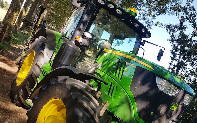 Agnalls agricultural services  with Tractor 100-200 hp at Saint Ives