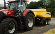 Andrew stephens with Large square baler at Bosvargus