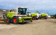 M & m bell contractors with Forage harvester at United Kingdom