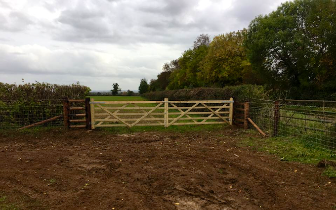 A j & m gleave and son fencing contractors with Fencing at Nantwich