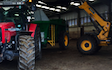 Niall turley  with Manure/waste spreader at Rock Road