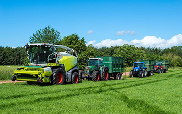A j tatters  with Forage harvester at Piper Lane