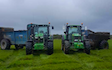 Dan hirst agricultural contractors  with Manure/waste spreader at United Kingdom