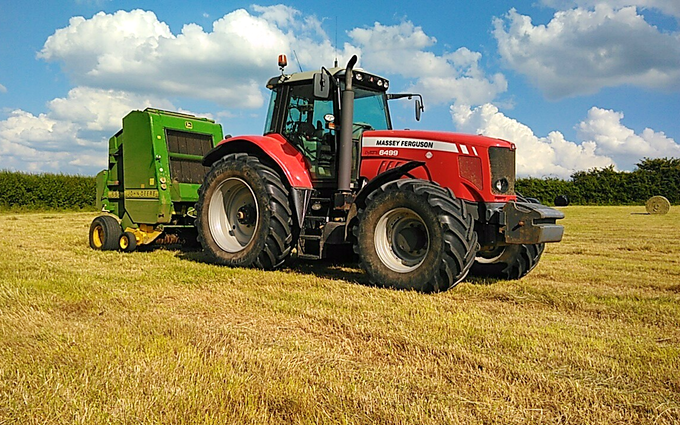 Hadfieldsmith @ sons with Round baler at United Kingdom