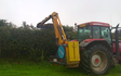 Trever verran agriculture contracting with Hedge cutter at Duloe