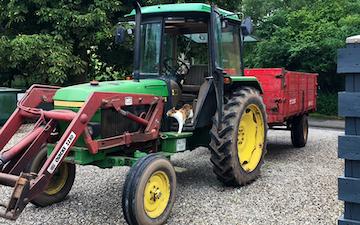 Mhr service.  med Traktor under 100 hk ved Auning