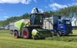 Bleeker ag services with Forage harvester at Otaio