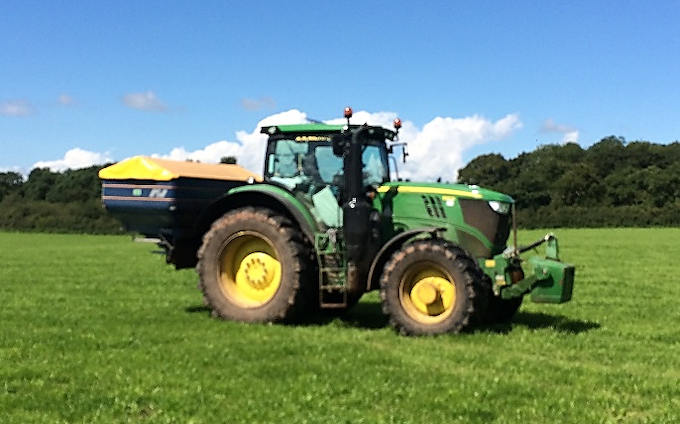 A r richards  with Fertiliser application at United Kingdom