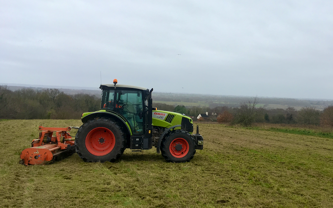 Jrh contracting with Verge/flail Mower at United Kingdom