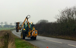 Haydn wesley & son ltd with Hedge cutter at Millthorpe Drove