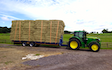 A & sj charlesworth farmers and contractors with Flat trailer at Loxley