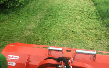 Mowerman grass & grounds maintenance  with Verge/flail Mower at Irthlingborough