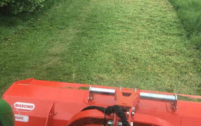 Mowerman grass & grounds maintenance  with Verge/flail Mower at Irthlingborough