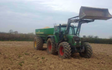 C r ellis contracting  with Lime spreader at Axminster