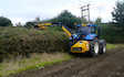 Rd agri contractor with Hedge cutter at West Lavington