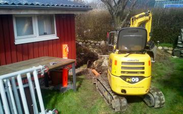 Fårelund entreprenør og maskinstation med Minigraver ved Ribe