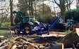 J turner contracting with Log splitter at Coningsby