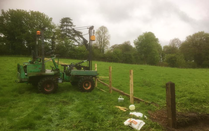 Oxfordshire's agricultural services with Fencing at Boars Hill