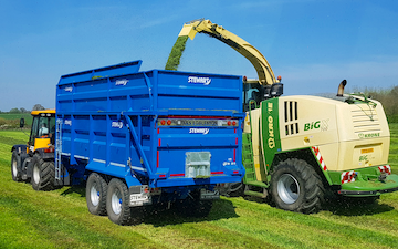 A&s eggleston with Forage harvester at United Kingdom