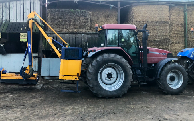 J w agri services with Hedge cutter at Sheffield