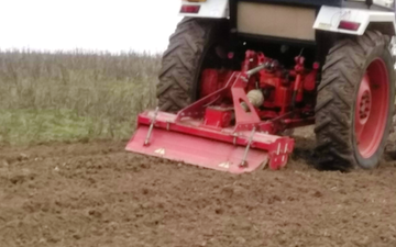Jj agri services with Rotovator at Westfield