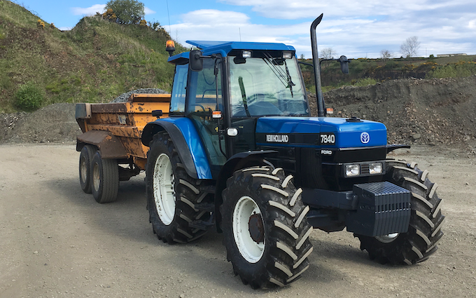 J pollock agri & haulage contractor with Tipping trailer at Derrykeighan