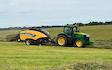 Cornbury farm contracting ltd with Large square baler at West Lavington