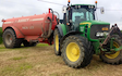 Nick ley contractors  with Slurry spreader/injector at Cookbury