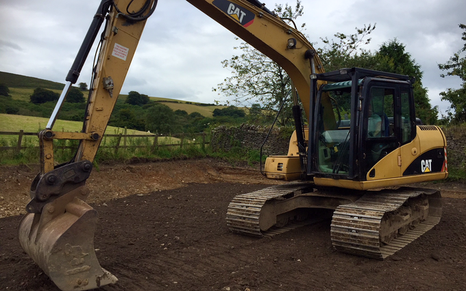 Land and forestry ltd with Excavator at United Kingdom