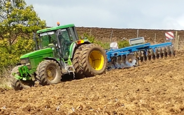 Southridge contracting with Disc harrow at Te Ohaki