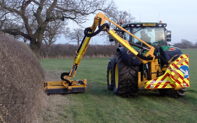 Hooftrimming ltd with Hedge cutter at United Kingdom