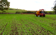 Mead farms with Self-propelled sprayer at United Kingdom