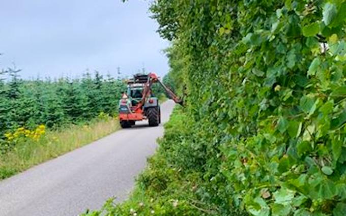 Sj maskinudl/entreprenør og markservice med Hegnsklipper ved Nørre Snede