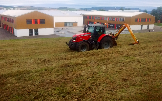 James a mcdonald with Hedge cutter at Chapel of Garioch