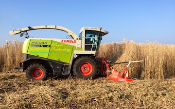 Wendt contractors ltd with Forage harvester at United Kingdom