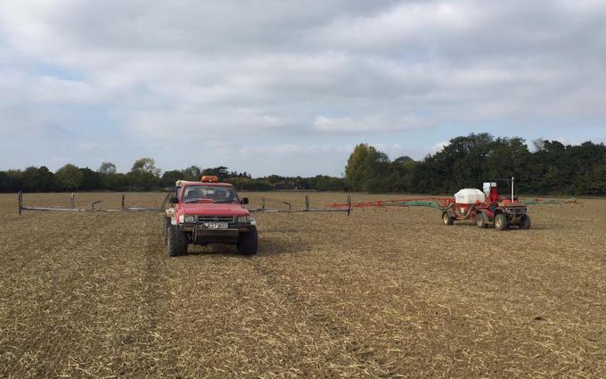 Galloway farms with ATV sprayer at United Kingdom