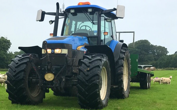 P j pengelly agricultural contracting  with Tractor 100-200 hp at Blackawton