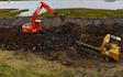 B j goose digger hire ltd  with Excavator at United Kingdom