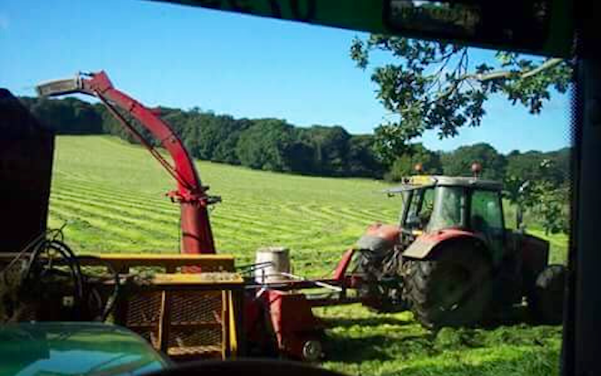 B & aj elson with Forage harvester at Thringstone