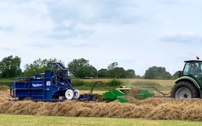 B d bedford agri with Small square baler at Honeysuckle Way