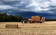 Cole agriculture  with Bale chaser at Cranworth