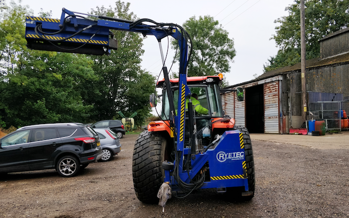Manor estates groundcare ltd with Hedge cutter at Widmer End