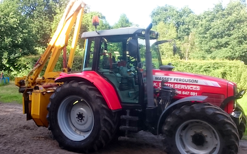K.smith field services  with Hedge cutter at Finchampstead