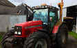 C. fulton agri services  with Hedge cutter at Lesmahagow