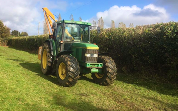Agriplant services with Hedge cutter at Rushlake Green