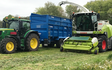 David marshall agricultural contractor with Forage harvester at Albrighton