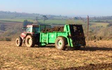 Trever verran agriculture contracting with Manure/waste spreader at Duloe