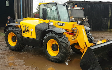 Freedom livestock  with Telehandler at United Kingdom